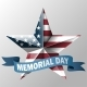 Mem Day with Star in Usa Flag Colors - GraphicRiver Item for Sale