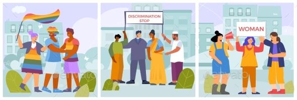 Discrimination Activists Compositions Set