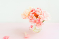 Fresh bunch of pink peonies in a tiny vase - PhotoDune Item for Sale