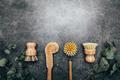 Bamboo Kitchen Scrub Brush Set of 4 - PhotoDune Item for Sale