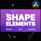 Shape Elements Pack | DaVinci Resolve - VideoHive Item for Sale