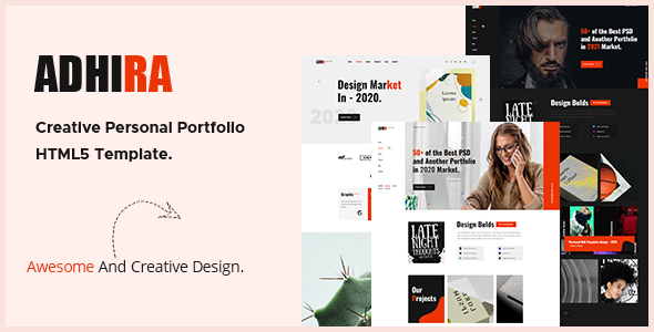 Adhira - Creative Portfolio HTML Template