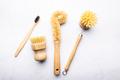 Bamboo Kitchen Scrub Brush Set of 3 - PhotoDune Item for Sale