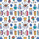 Magic Vector Seamless Pattern - GraphicRiver Item for Sale