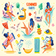 Summer Seaside Beach Pool Party. - GraphicRiver Item for Sale