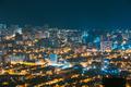 Batumi, Adjara, Georgia. Aerial View Of Urban Cityscape Skyline At Night - PhotoDune Item for Sale