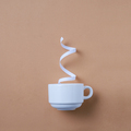 White cup of coffee and steam - PhotoDune Item for Sale