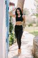 attractive fitness Female in sportswear outdoors. slim athletic Female posing - PhotoDune Item for Sale