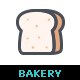 Bakery and Sweet Color Icon - GraphicRiver Item for Sale