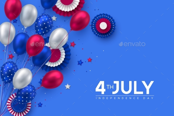 4Th of July USA Independence Day Banner