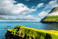 Picturesque view on green faroese islands - PhotoDune Item for Sale