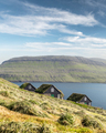 Picturesque view of tradicional faroese grass-covered houses - PhotoDune Item for Sale