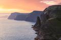 Famous cliff near Sorvagsvatn lake on Vagar island - PhotoDune Item for Sale