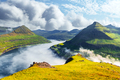 Panorama over majestic sunny fjords of Funningur - PhotoDune Item for Sale