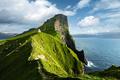 Kallur lighthouse on green hills of Kalsoy island - PhotoDune Item for Sale
