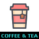 Coffee and Tea Line with Color Icon - GraphicRiver Item for Sale
