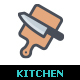 Kitchen and Utensil Color Icon - GraphicRiver Item for Sale