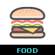 Food Line with Color Icon - GraphicRiver Item for Sale