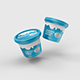 Sour Cream Plastic Jar Mockup - GraphicRiver Item for Sale