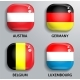 Glass Buttons Flags of European States - GraphicRiver Item for Sale
