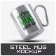 Steel Portable Mug Mock-Up - GraphicRiver Item for Sale