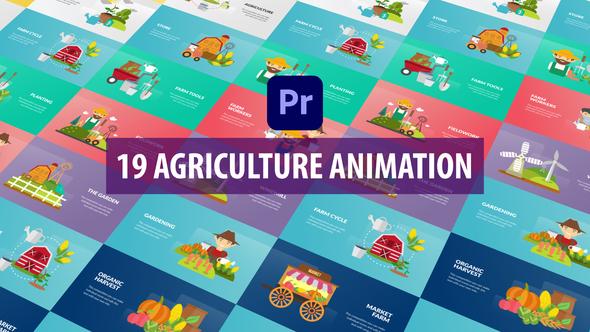 Agriculture Animation   Premiere Pro MOGRT