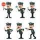 Policeman Detective Different Gestures Actions - GraphicRiver Item for Sale