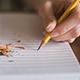 Pencil On Paper Writing Scrawl Long
