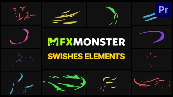 Swishes Elements | Premiere Pro MOGRT