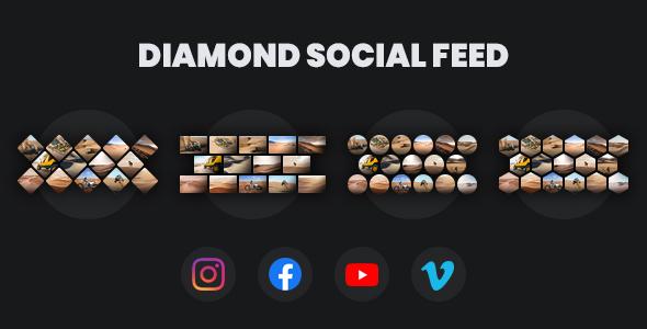 Diamond Social Feed - jQuery Media Gallery
