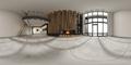 360 panorana of empty modern interior room 3D rendering - PhotoDune Item for Sale