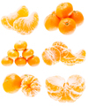 Mandarin Orange Fruits Isolated On White Background. Healthy Food. Mandarins Contain A High Content - PhotoDune Item for Sale