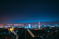 Tallinn, Estonia, Europe. Natural Night Starry Sky Above Tallinn Skyline Cityscape. Old Town And - PhotoDune Item for Sale