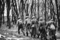 Re-enactors Dressed As Soviet Russian Red Army Infantry Soldiers Of World War II Marching Along - PhotoDune Item for Sale