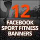 12 Facebook Sport Fitness Banners - GraphicRiver Item for Sale
