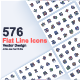 Flat Line Web Icons Pack - GraphicRiver Item for Sale