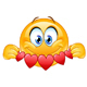 Emoticon with Heart Banner - GraphicRiver Item for Sale