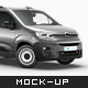 Citroen Berlingo Delivery Van Mockup - GraphicRiver Item for Sale