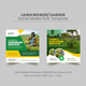 Lawn Mower Social Media Post Banner Template - GraphicRiver Item for Sale