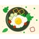 Breakfast Scrambled Eggs on a Plate and Vegetables - GraphicRiver Item for Sale