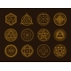 Occult Sign Alchemy and Astrology Symbol Set on - GraphicRiver Item for Sale