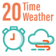 20 Time and Weather Outline Icons - GraphicRiver Item for Sale