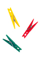 Three colorful plastic clothespins - PhotoDune Item for Sale