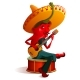Mexican Chili Pepper Character Sombrero Plays - GraphicRiver Item for Sale