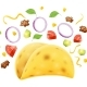 Taco. Traditional Mexican Fast Food. Vector Illustration. - GraphicRiver Item for Sale