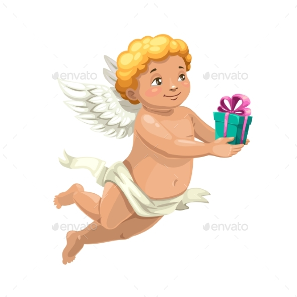 Cupid Angel with Valentine Day or Wedding Gift