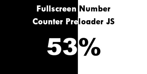 Fullscreen Number Counter Preloader JS