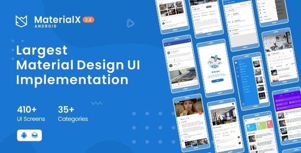 MaterialX - komponenty interfejsu użytkownika do projektowania materiałów dla systemu Android 2.3