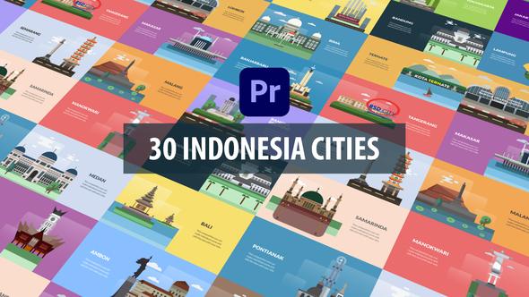 Indonesia Cities Animation   Premiere Pro MOGRT