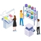 People Working with Equipment and Shelving with - GraphicRiver Item for Sale